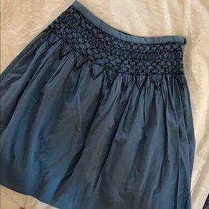 BCBG A line skirt cornflower blue with stitching